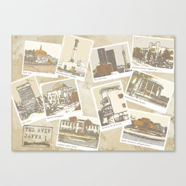 vintage tel aviv Canvas Print