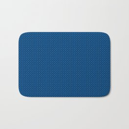 Knitted spring colors - Pantone Lapis Blue Bath Mat