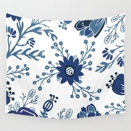 Porcelain Flowers Wall Tapestry