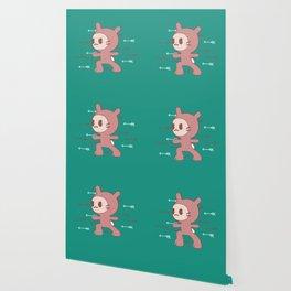 Yoga Warrior Bunny Illustration Wallpaper