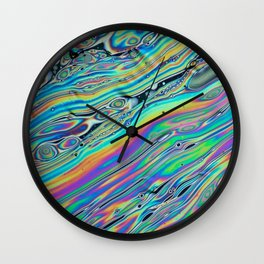 colour pattern reflection fun 2018 water color Wall Clock