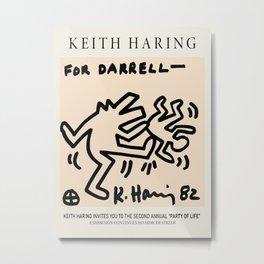 Dog kick ass - Keith Art, Exhibition Poster, Japan Vintage Print Metal Print