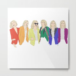 Cate Blanchett - Rainbow Pride Flag Metal Print