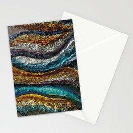 """Rainbow waves"" Stationery Cards"