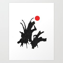 cats with ball Art Print