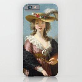 Self Portrait in a Straw Hat, Elisabeth Louise Vigee Le Brun, 1782 iPhone Case