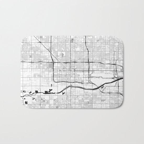 Phoenix Map Gray Bath Mat