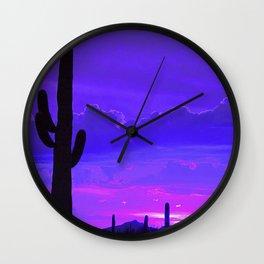 Desert Silhouette Wall Clock