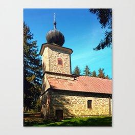 Maria Rast forest chapel 3 Canvas Print