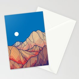 Lines in the mountains Stationery Cards