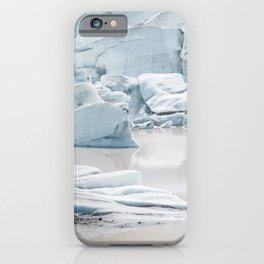 Icelandic lagoon in pastel blue iPhone Case