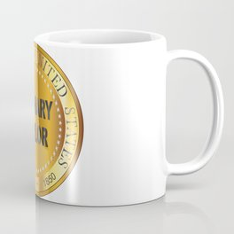 Zachary Taylor Gold Metal Stamp Coffee Mug