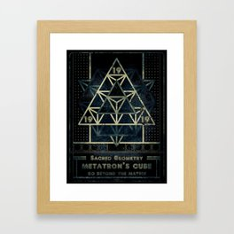 Sacred Geometry for your daily life - METATRON MATRIX Framed Art Print
