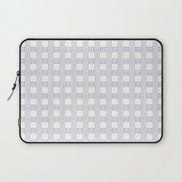 Light Grey Wood Lattice Laptop Sleeve