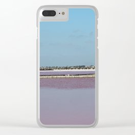 Rosy Red Salt Lakes Clear iPhone Case