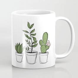 Three Little Succulents Coffee Mug