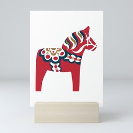Swedish Dala Horse - Red Mini Art Print