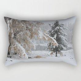 Snowy pine Rectangular Pillow