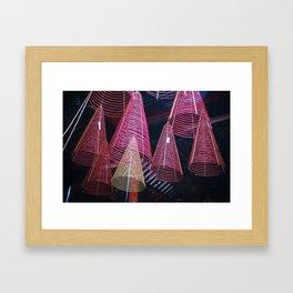 RED SPIRALS - Vietnam - Asia Framed Art Print