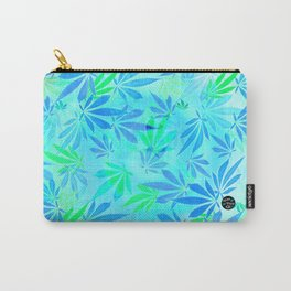 Blue Mint Cannabis Swirl Carry-All Pouch