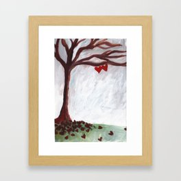 Our love withstands all seasons Framed Art Print