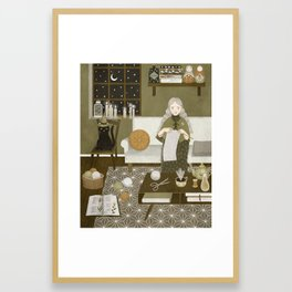 knitting magic Framed Art Print
