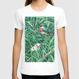 Green Kingfisher in Nature, green design T-shirt