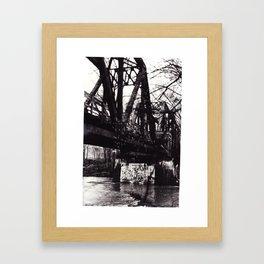 Stencil under the Bridge Framed Art Print
