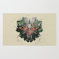 camouflage Area & Throw Rugs featuring CAMOUFLAGE by GEEKY CREATOR
