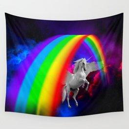 Unicorn & Rainbow Wall Tapestry