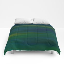 Navy, Peacock Green Abstract Comforters