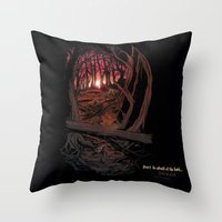berserk Throw Pillows featuring Children In the Wood by TheMagicWarrior