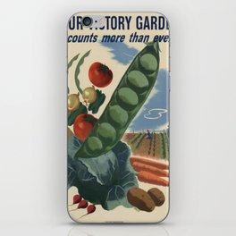 Vintage poster - Victory Garden iPhone Skin