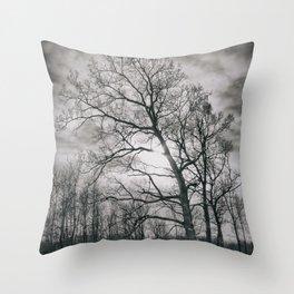 Haunted Tree Throw Pillow