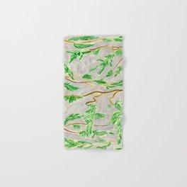 Hemlock Study Brush Pen Illustration by Amanda Laurel Atkins Hand & Bath Towel