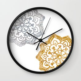 Gold and silver lace floral Wall Clock