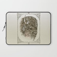 Portrait of a Buffalo Laptop Sleeve