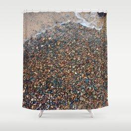 Lake Superior Pebbles Shower Curtain