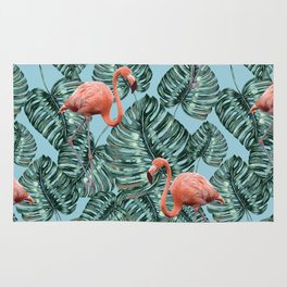 Whimsical Flamingo Pattern #society6 #decor #buyart Rug
