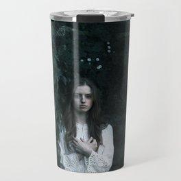 Woman in the dark Travel Mug