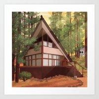 Tahoe Cabin Art Print