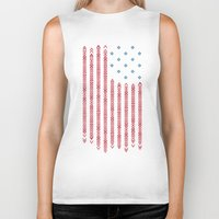 patriots Biker Tanks featuring Native Patriots by Steven Toang