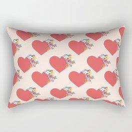 Blooming Hearts Rectangular Pillow