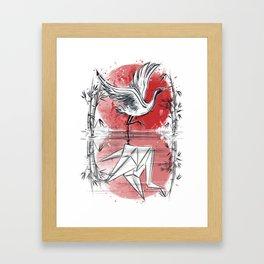 Mirror of water Framed Art Print