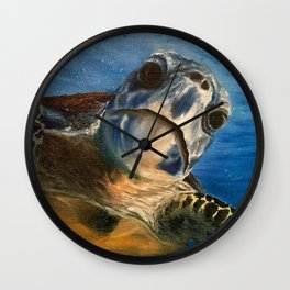 Nosey Turtle Wall Clock