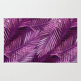 Lilac palm leaves. Rug