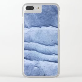 Blue abstract watercolor Clear iPhone Case