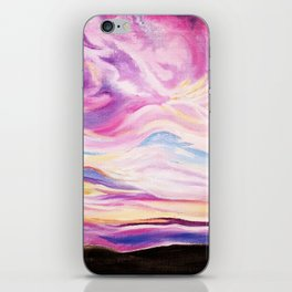 Colourful, Vibrant Abstract Sunset Oil Painting iPhone Skin
