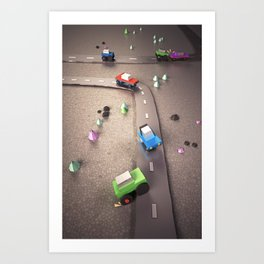 Mini Cars Art Print