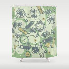 Eukaryote (green) Shower Curtain